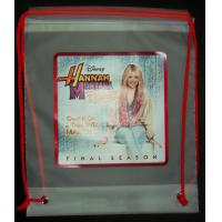 Clear Drawstring Plastic Bags For Hannah Montana Forever DVD Manufactures