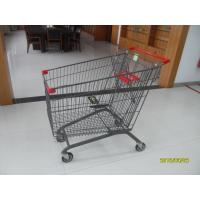 Quality CE / GS Mesh Wire Shopping Trolley 210L With Zinc Plated Colorful Powder Coating for sale