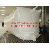 China 20ft,30ft ,40ft WPP Waterproof Dry Bulk Container Liner Bag With fast discharge spout on sale