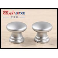 25mm Pearl Silver Plastic Cabinet Knobs Round ISO Certificated For  Furniture Drawer Pulls Manufactures