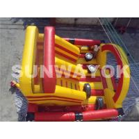 Carriage Wheel Inflatable Bouncy Obstacle Course Inflatables Interactive Games Manufactures