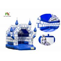 Buy cheap Blue White Commercial Kids Air Jumping Inflatable Castle Toys With Roof from wholesalers