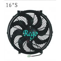 Quality 16 Inch Universal Electric Engine Radiator Cooling Fans 180W Power Curved Blade for sale