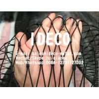 China Stainless Steel Wire Rope Woven Mesh, Black Oxide Wire Rope Netting, SS Wire Cable Zoo Mesh, Animal Enclosures Webnet on sale