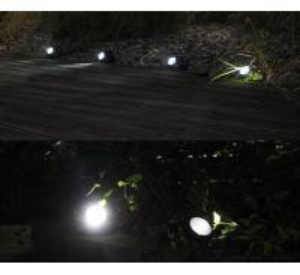 Quality Garden 4 LED Stone Solar Lights 1.2 Lumens Outdoor Rock LED Solar Spot Light for sale