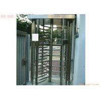 Quality Stainless Steel Full Height Turnstiles Door ,  Pedestrian Access Turnstile Barrier for sale