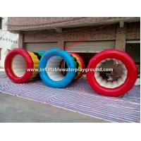 Colorful Kids Game Water Rollers Inflatable Water Wheel Rentals Manufactures