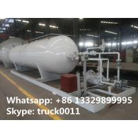 20,000L mobile skid-mounted lpg gas refilling station for gas cylinders, 8 metric tons skid-mounted propane plant Manufactures