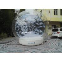 3 - 6m advertising Inflatable Snow Globe Bubble Decorations / Snow Bubble Tent Manufactures