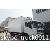 factory selling dongfeng tianjin 4x2 190hp 12cbm meat hook refrigerator truck for sale, 15tons cold room truck for TOGO Manufactures