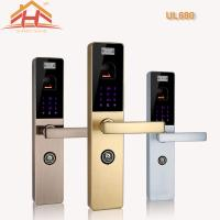 China Touchscreen Biometric Door Lock Residential With Fingerprint Scanner , Voice Prompt on sale