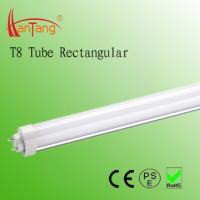 High Power 2 Feet Rectangular Milky 140° T8 Fluorescent Tubes for commersial complexs Manufactures