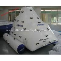 Adults Inflatable Floating Iceberg AVIVA Inflatable Rock Climbing Wall Commercial Use Manufactures