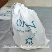 White Drawstring Plastic Bags for Electronic Product / Scrubbing String Bag Manufactures