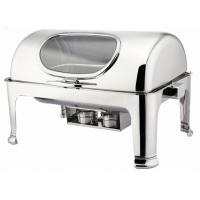 Quality Catering Industry Rectangular Roll Top Chafing Dish With  4.0L * 2 Soup Bucket for sale