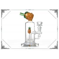 Yellow Pineapple Waterpipe 7 inches Mini Glass Bubbler Bong With Showerhead Perc Manufactures