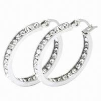 Stainless Steel Earrings, Customized Sizes and Designs Welcomed Manufactures