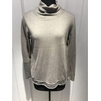 Soft Grey Sweater Womens, Pullover Turtleneck Sweater For Spring Manufactures