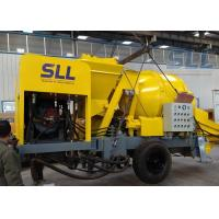 Industrial Concrete Mixer Pump , Diesel Concrete Pump 40 Feet Container Manufactures