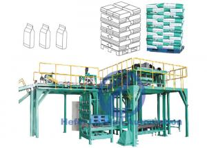 Unmanned Automatic Palletizing Machine For Sugar Feed Fertilizer Bags Working Smoothly Manufactures