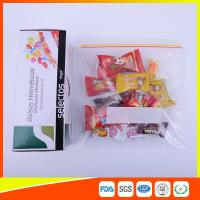 Durable Plastic Ziplock Snack Bags For Candy / Biscuits Storage Food Grade Manufactures
