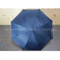Blue Gentleman'S Automatic Umbrella , Custom Promotional Umbrellas Flip Proof Manufactures