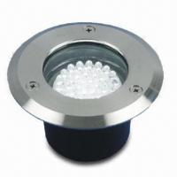 LED Ground Light with Die-cast Aluminum Body and Stainless Steel Cover, Measures 11 x 6cm Manufactures