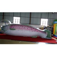 0.18 MMPVC Inflatable Flying Fish / Inflatable Advertising Fish Fly In The Sky In Event / Exihibition Manufactures