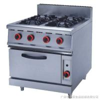 Silver Commercial Kitchen Equipments ZH-RQ-4 , 4.8KW PNG Gas Burner With Oven Manufactures