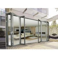 Economic Aluminium Bi Fold Doors , Waterproof Customized Commercial Folding Doors Manufactures