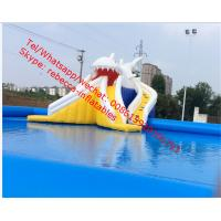 inflatable shark water slide nip slip on a water slide Manufactures