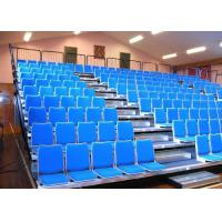 Customized Retractable Indoor Bleachers Retractable Audience Seating Upholstered GYM