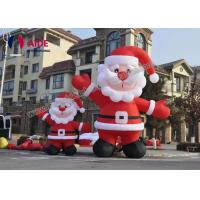 Holiday Christmas Man Blow Up Santa Claus Inflatables For Event Advertise Manufactures