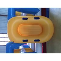 Yellow Inflatable Lifeboat Enhanced Strong PVC Lightweight Inflatable Boat Manufactures