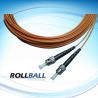 Customized Low Insertion Loss≤ 0.2dB Simplex / Duplex / Multi-fiber Optic Patch Cord ST Manufactures