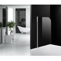One Panel Glass Bath Shower Screens Frameless 800 x 1300 mm Pivot Open Manufactures