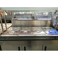 Marble Stainless Steel Catering Equipment Hot Food Unit Standing Bain Marie 1600*900*800+560mm Manufactures