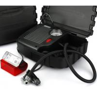 Black High Power Car Air Compressor With Plastic Box One Year Warranty Manufactures
