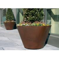 Large Traditional Corten Steel Round Planter Various Sizes / Colors Available Manufactures
