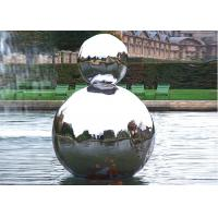 Polished Stainless Steel Outdoor Sculpture Hollow Sphere Shaped For Pool Decoration Manufactures