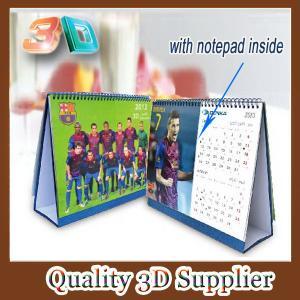 2015 custom spiral binding 3d desk calendar with memo Manufactures
