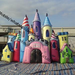 Inflatable Camelot Castle Course Bounce Castle Manufactures