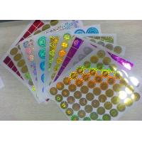 Anti - Dirty Security Hologram Stickers Multi Color In Small Round Shape