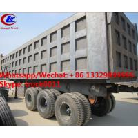 Quality Factory sale best price CLW brand 36m3 dump tipper trailer, HOT SALE! high quality and good price dump tipper trailer for sale