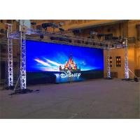 Refresh frequency 3840Hz Slim Rental Stage LED Display , P3 91 LED Display For Concert Manufactures