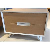 Buy cheap Fashionable Sturdy Indoor Storage Cabinets With 2 Drawers , Hardwood Bedside Tables from wholesalers