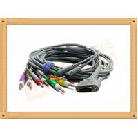 DB9 15 Pin One Piece ECG Monitor Cable 10 Leadwires Banana IEC , No Toxic Manufactures