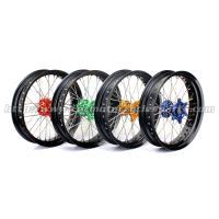 Front Rear Custom Motorcycle Wheels Forged Alloy 17 Black Rims Supermoto Wheels Manufactures