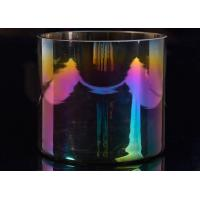 Popular Decor Candle Holder Glass Replacement Luxury Iridescent Straight Side Manufactures