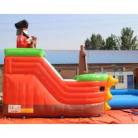 Quality 3 years warranty Outdoor inflatable pirate ship water slide with swimming pool, Mini inflatable water park for toddlers for sale